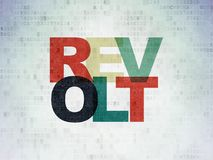 Politics concept: Revolt on Digital Data Paper background. Politics concept: Painted multicolor text Revolt on Digital Data Paper background Royalty Free Stock Photography