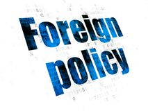 Politics concept: Foreign Policy on Digital background. Politics concept: Pixelated blue text Foreign Policy on Digital background Stock Photography