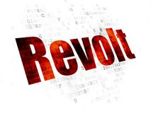 Politics concept: Revolt on Digital background. Politics concept: Pixelated red text Revolt on Digital background Stock Images