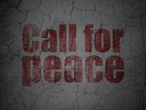 Politics concept: Call For Peace on grunge wall background Stock Photography