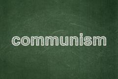 Politics concept: Communism on chalkboard background Stock Photography