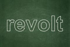 Politics concept: Revolt on chalkboard background. Politics concept: text Revolt on Green chalkboard background Royalty Free Stock Images
