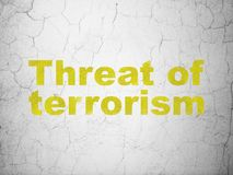 Politics concept: Threat Of Terrorism on wall background Stock Photo
