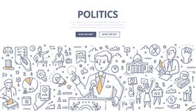 Politics Doodle Concept royalty free illustration