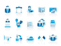 Politics, election and political party icons royalty free illustration