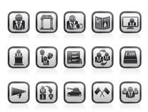 Politics, election and political party icons Royalty Free Stock Images