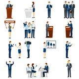 Politics flat icons set Royalty Free Stock Image