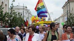 Politics gay parade stock video