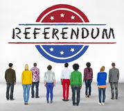 Politics Government Referendum Democracy Vote Concept royalty free stock photography