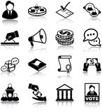 Politics icons. Politics related vector icons/ silhouettes Royalty Free Stock Photography
