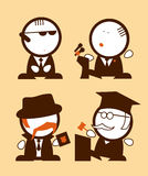 Politics and Law profession funny peoples. Royalty Free Stock Photography