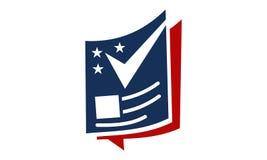 Politics Magazine Logo Design Template. Vector Royalty Free Stock Photo