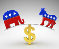 Politics and money. Corruption in politics and money Royalty Free Stock Photo