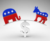 Politics and money. Corruption in politics and money Royalty Free Stock Photos