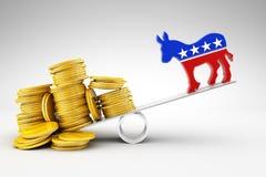 Politics and money Royalty Free Stock Photo