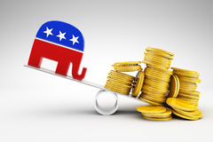 Politics and money. Corruption in politics and money Stock Photography