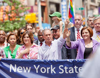 Politics New York City. Nydia Velazquez,Michael Bloomberg, Christine Quinn, Tom Duane -  Pride Parade  in New York City, Manhattan. Photo taken on June 26th Stock Images