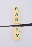 Politics: Party split. Stock Images
