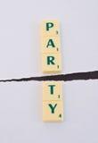 Politics: Party split. stock images