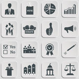Politics, Voting and elections icons Stock Photo