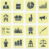 Politics, Voting and elections icons Stock Photos