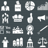Politics, Voting and elections icons Stock Image