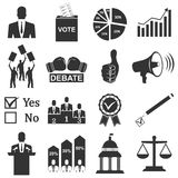 Politics, Voting and elections icons Royalty Free Stock Image