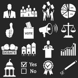 Politics, Voting and elections icons. Vector icon set vector illustration