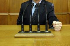 Politicus in actie 2 Stock Fotografie