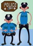 Politie Beste Vrienden royalty-vrije illustratie