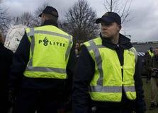 Politie bij Demonstratie Stock Afbeelding