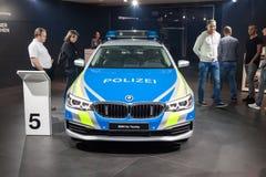 Politie BMW 5 Reeksen Royalty-vrije Stock Fotografie