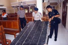 Politie bom ploeg Royalty-vrije Stock Foto