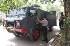 Politie bom ploeg Royalty-vrije Stock Fotografie