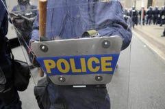 Politie die klaar worden. Stock Afbeeldingen