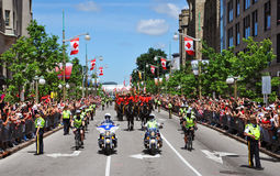 Politie en RCMP in de Dag van Canada Royalty-vrije Stock Foto's
