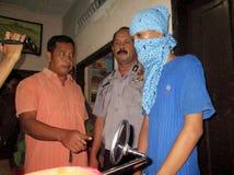 Politie gearresteerde drugdealer royalty-vrije stock afbeelding