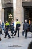 Politie het patrouilleren Stock Afbeelding