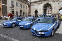 Politie in Italië Stock Foto's