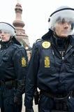 Politie in Kopenhagen stock afbeelding