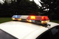 Politie Lichte Bar Stock Foto's