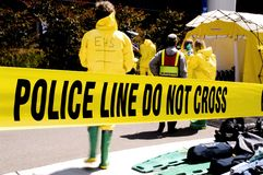 Politie lijn-EHS Stock Fotografie
