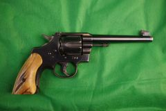Politie ModelColt 38 revolver Stock Foto's