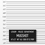 Politie mugshot Stock Afbeelding