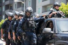 Politie op de straat tijdens de La-Koningen Stanley Cup Parade Celebration Stock Afbeeldingen