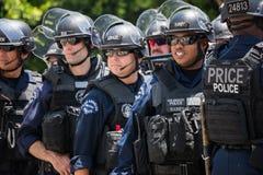 Politie op de straat tijdens de La-Koningen Stanley Cup Parade Celebration Royalty-vrije Stock Foto