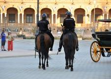 Politie op horseback Stock Afbeelding