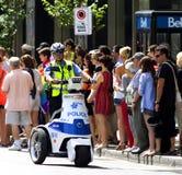 Politie op Trike Royalty-vrije Stock Afbeeldingen