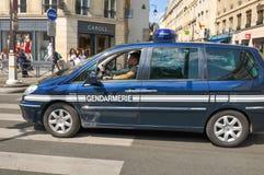Politie in Parijs, Frankrijk royalty-vrije stock foto's