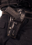 Politie Sig Sauer 9mm automatisch pistool Royalty-vrije Stock Foto